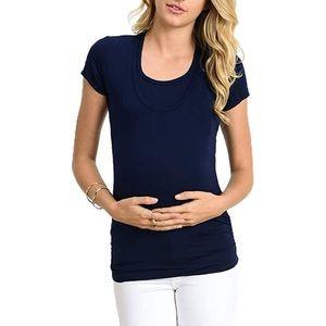 LaClef V Neck Maternity/Nursing Top